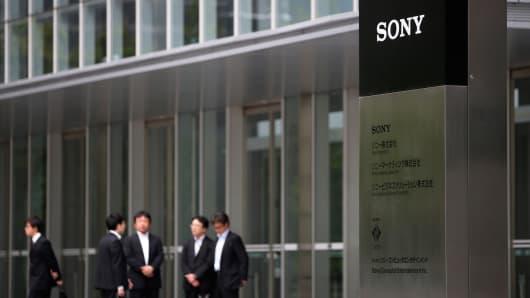 Sony headquarters in Tokyo, Japan.