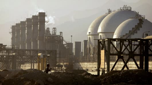 A view of a petrochemical complex in Assaluyeh on Iran's Persian Gulf coast.