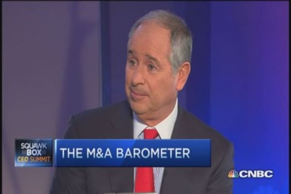 Pulse of M&A on the Street: Blackstone CEO