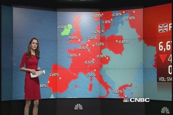 Europe ends over 1% lower after Draghi disappoints