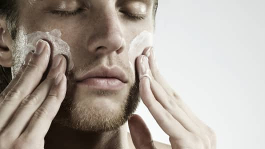 Men's skin-care sales are on the rise.