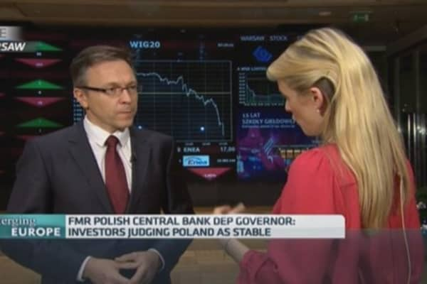 Investors won't pull plug on Poland: Central bank chief