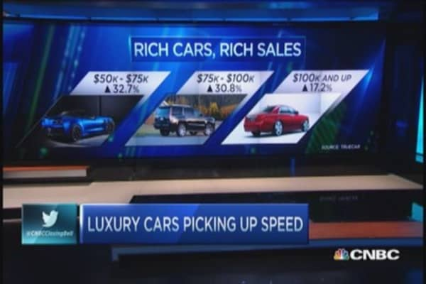 Luxury cars pick up speed