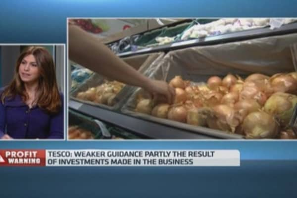Tesco issues another profit warning