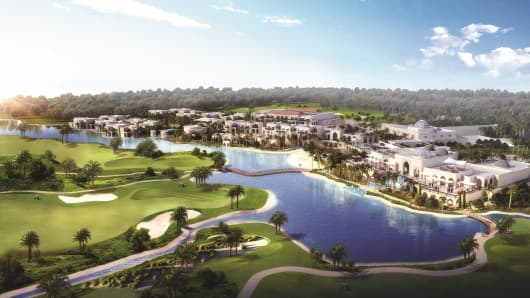 Rendering of Akoya Oxygen, the land where the 'Trump World Golf Club Dubai' will be situated.