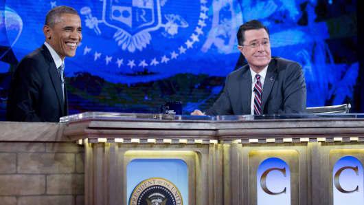 barack obama, Stephen Colbert, Colbert Report