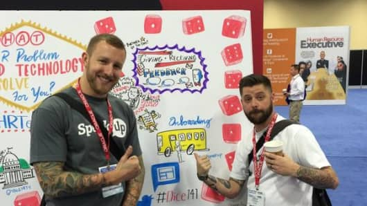 Ray Gillenwater (left), former BlackBerry executive and founder of SpeakUp, with SpeakUp co-founder Keith Barney