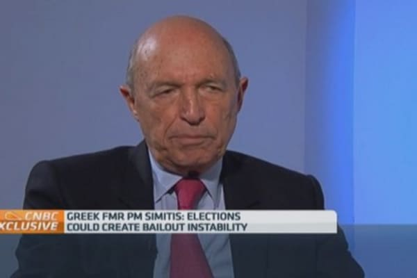 'Wise' for Samaras to call election: Ex-Greek PM