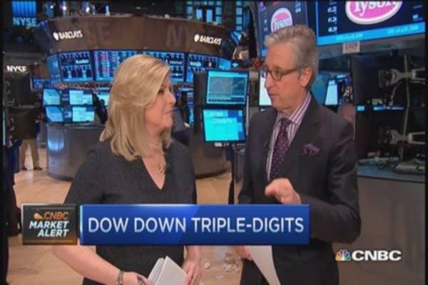Stocks slide triple-digits on oil drop
