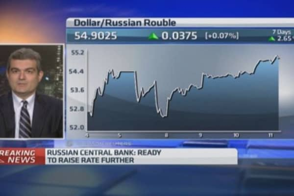 Russia rate hike a sign of 'desperation'