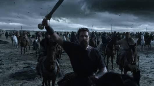 Still from the film Exodus: Gods & Kings.