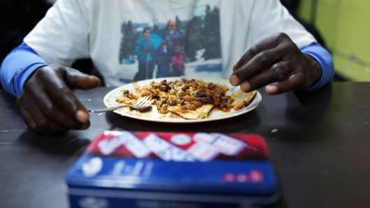 Homeless free meal hunger