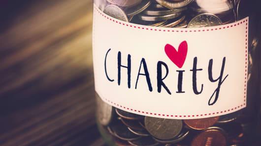 Charity money savings jar