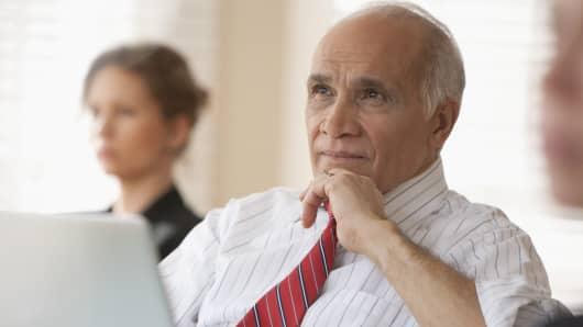 Senior man in meeting