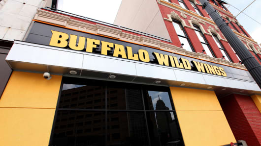 A file photo of a Buffalo Wild Wings location in Detroit.