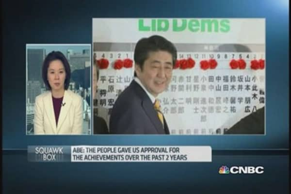 Japan's Abe clinche victory in snap elections