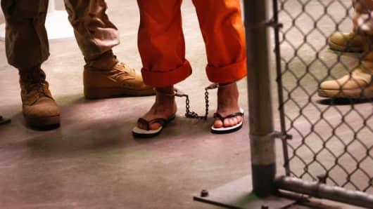 A prisoner at Guantanamo Bay, Cuba