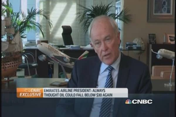 Emirates CEO: The oil price drop is great