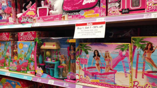 Barbie dolls and accessories already being discounted at Toys R' Us days before Super Saturday.