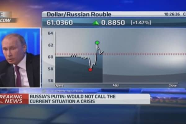 Russian central bank has acted 'adequately'