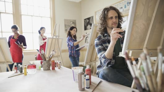 Holiday shoppers are spending more on experiences, like painting classes, this season.
