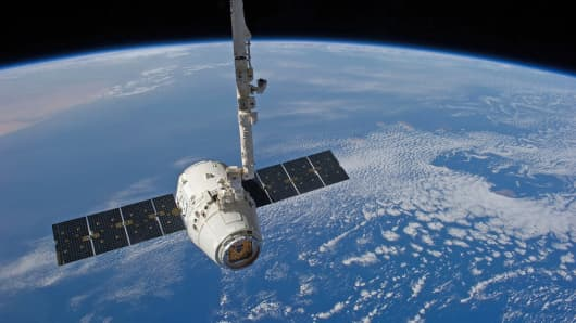 SpaceX Dragon attached to International Space Station
