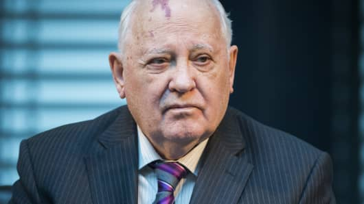 Former President of the Soviet Union Mikhail Gorbachev last November.