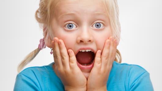 Young girl shocked