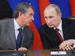 Vladimir Putin and Igor Sechin