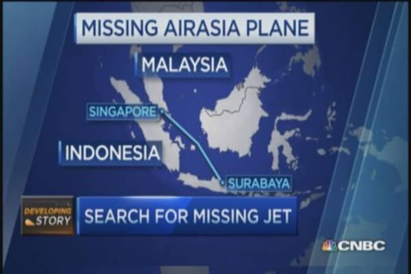 Missing AirAsia plane: No sign of anything