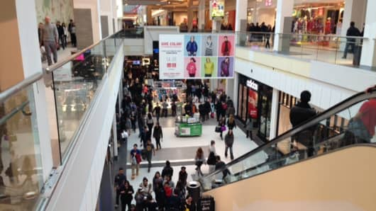 The malls came alive this holiday season, and that is a good sign on the economy for 2015.