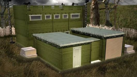 Zombie Fortification Cabin (ZFC-1) exterior