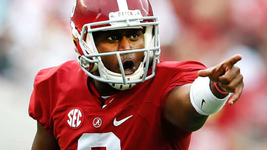 Blake Sims of the Alabama Crimson Tide