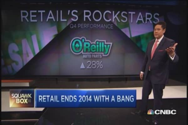 Retail stocks on the run