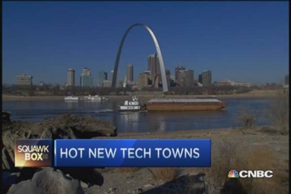 Hot tech towns USA
