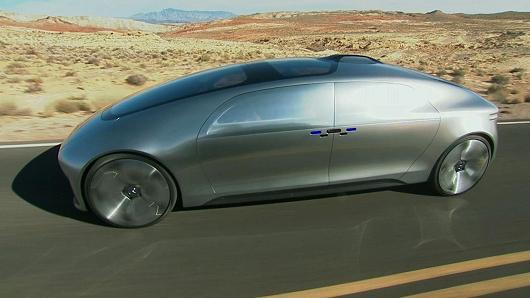 The Mercedes-Benz F 015 autonomous drive concept car.