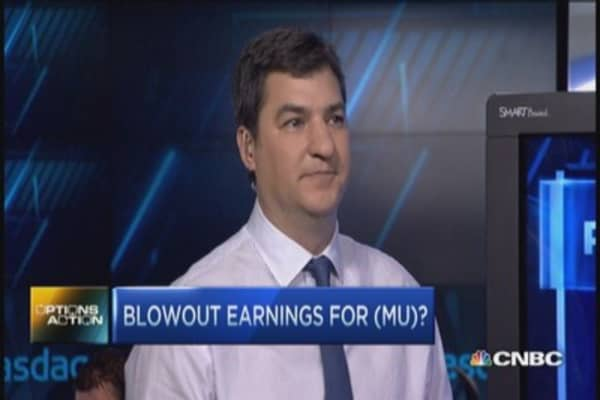 Options Action: Blowout earnings for MU?