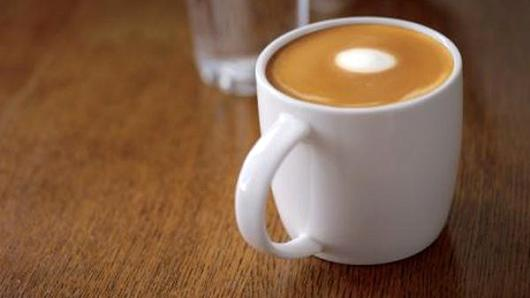 Starbuck's new Flat White coffee.