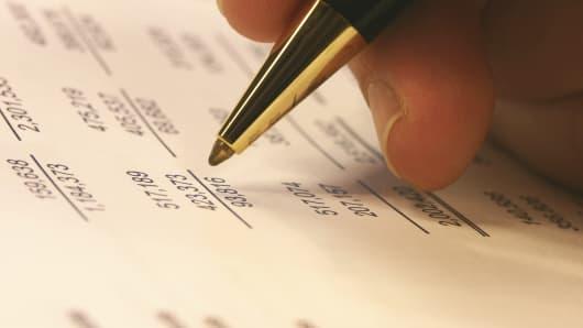 Corporate earnings balance sheet
