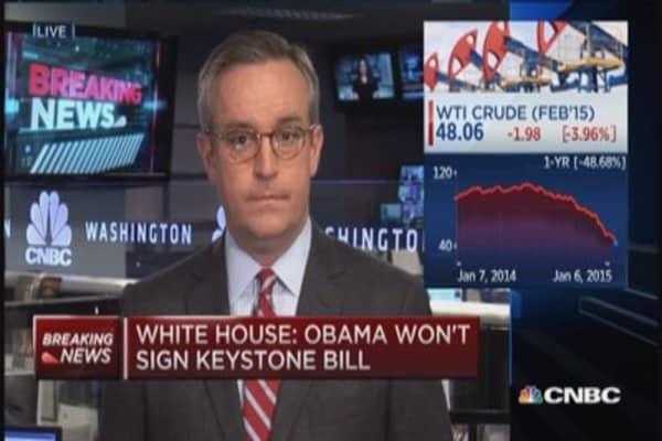 White House: Obama won't sign Keystone bill