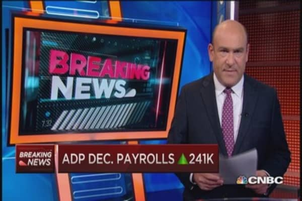 ADP December payrolls up 241,000