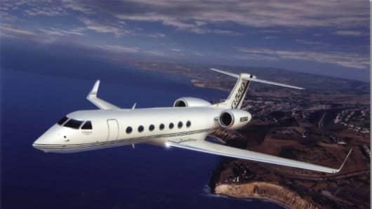 A Megellan Jet Gulfstream G550 Business Jet.