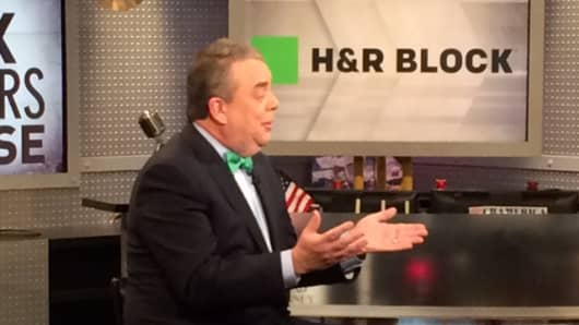 William Cobb, CEO of H&R Block, on the set of Mad Money