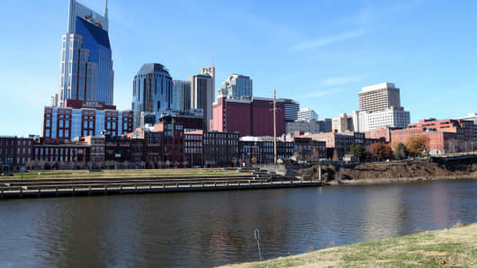 Downtown skyline of Nashville, Tennessee