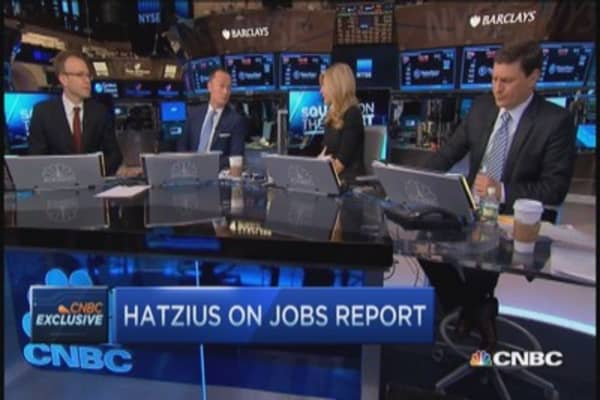 Goldman's Hatzius: Wage growth well below 'tightening' level