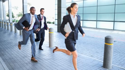 Business people race