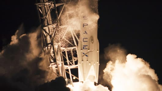 The unmanned Falcon 9 rocket launched by SpaceX lifts off from the Cape Canaveral Air Force Station in Cape Canaveral, Florida January 10, 2015.