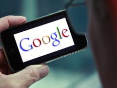 Google logo seen on iPhone