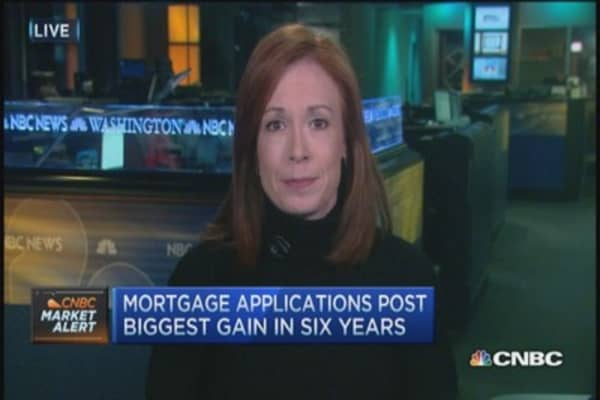 Mortgage apps spike 49% last week