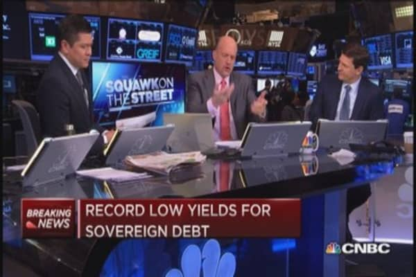 Cramer: Step back, low rates hurting banks
